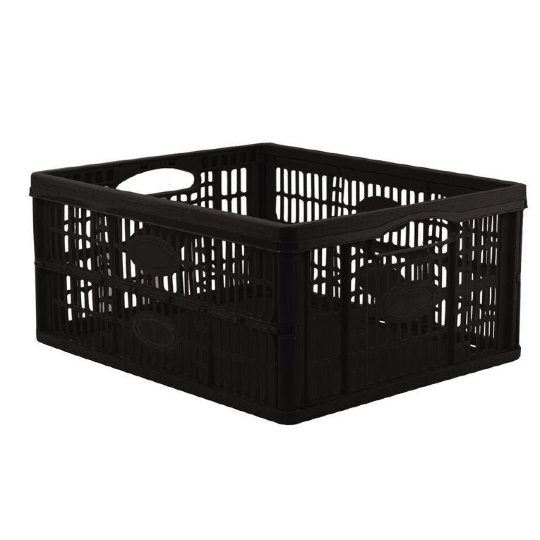 Collapsable Crate Black 46L, , hi-res