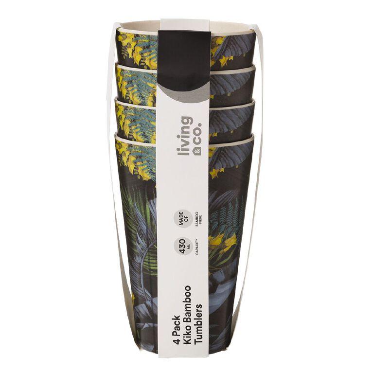 Living & Co Kiko Bamboo Tumbler Printed 4 Pack, , hi-res