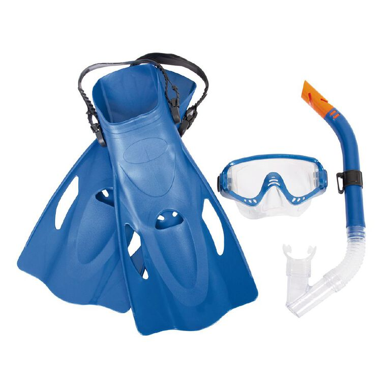 Bestway Meridian Snorkel Set Adults 4 Piece Assorted One Size, Assorted, hi-res