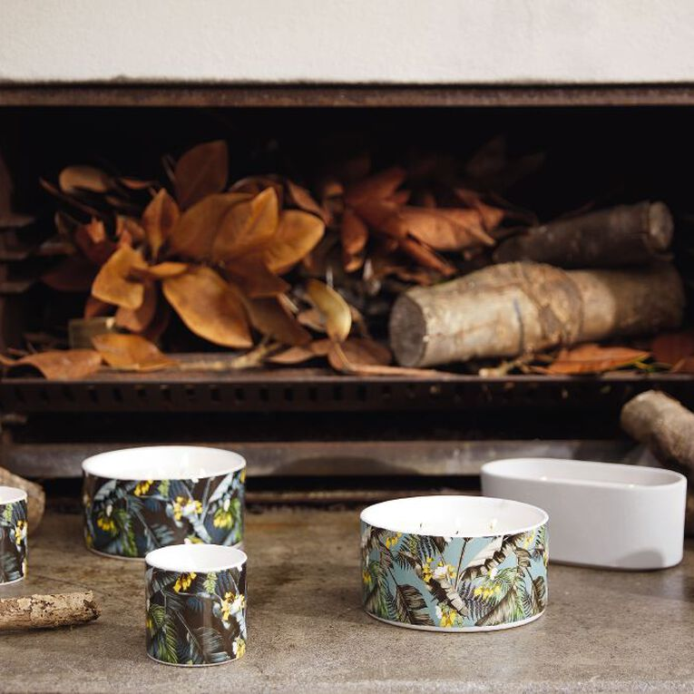 Living & Co Citronella 5 Wick Ceramic Jar Candle Navy 19.4oz, , hi-res