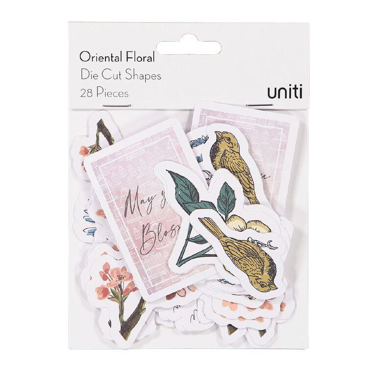 Uniti Oriental Floral Cardstock Die Cut Shapes 28 Pieces, , hi-res