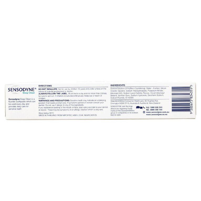 Sensodyne Deep Clean Sensitive Toothpaste 110g, , hi-res