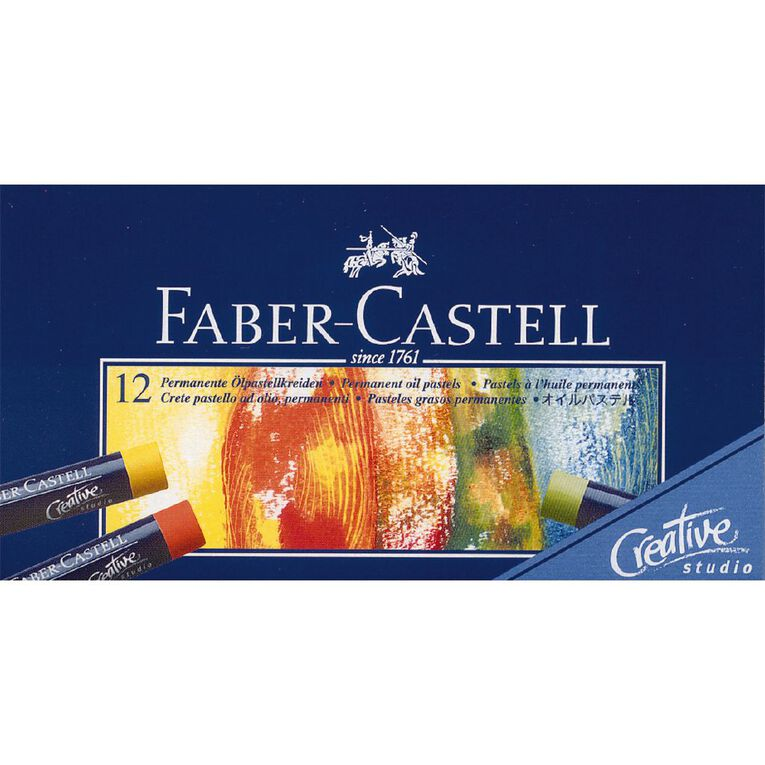 Faber-Castell Oil Pastels 12 Pack, , hi-res