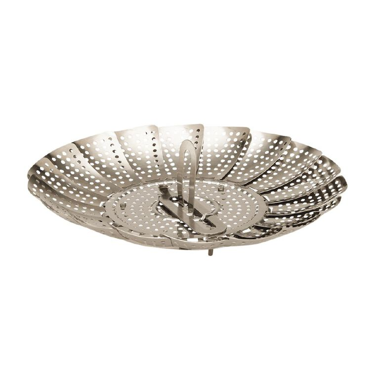 Living & Co Stainless Steel Steamer Basket Silver, , hi-res