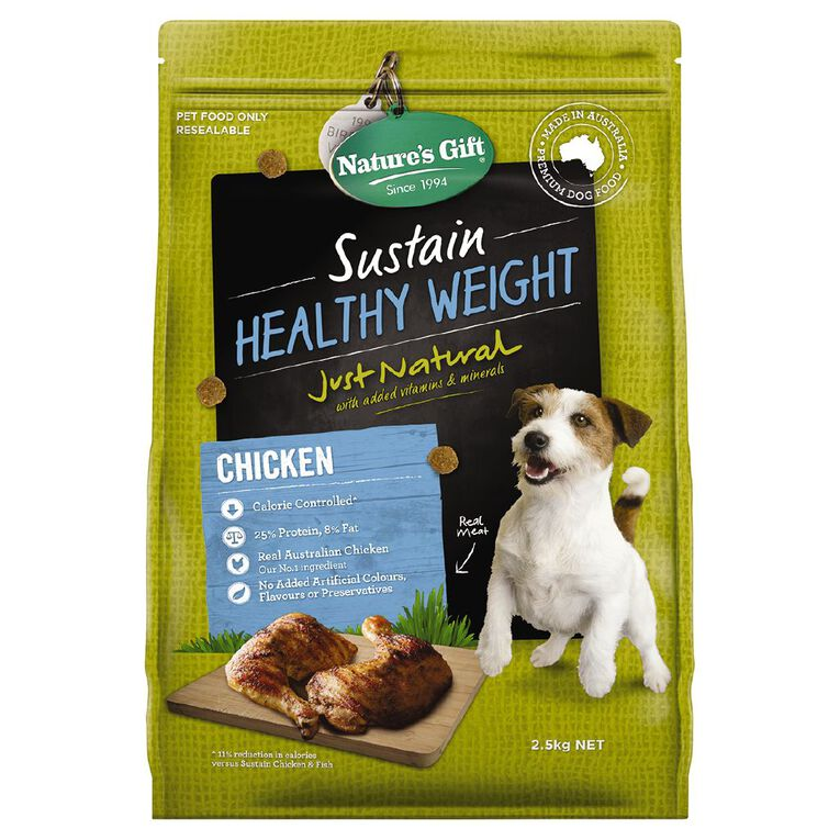 Nature's Gift Sustain Healthy Weight Dog Food 2.5kg, , hi-res