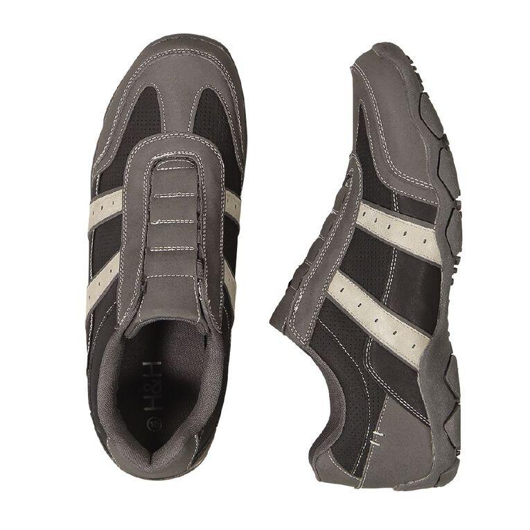H&H Men's Faxon Casual Shoes, Black, hi-res