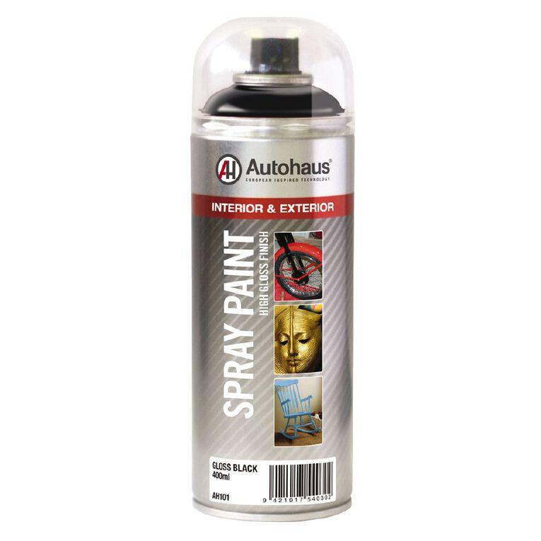 Autohaus Spray Paint Gloss Black 400ml, , hi-res