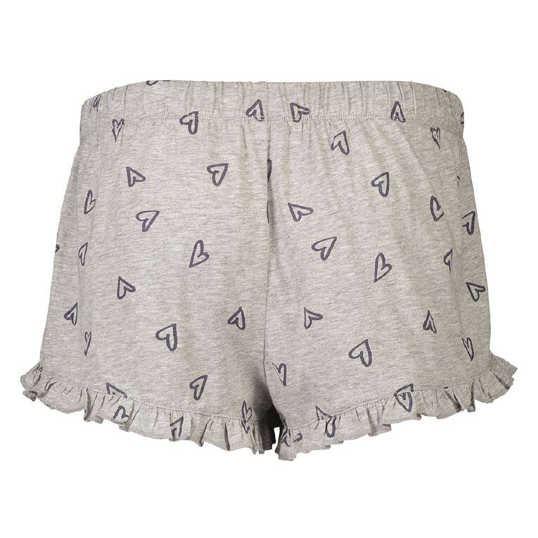 H&H Women's Knitted Frill Shorts, Grey Light, hi-res