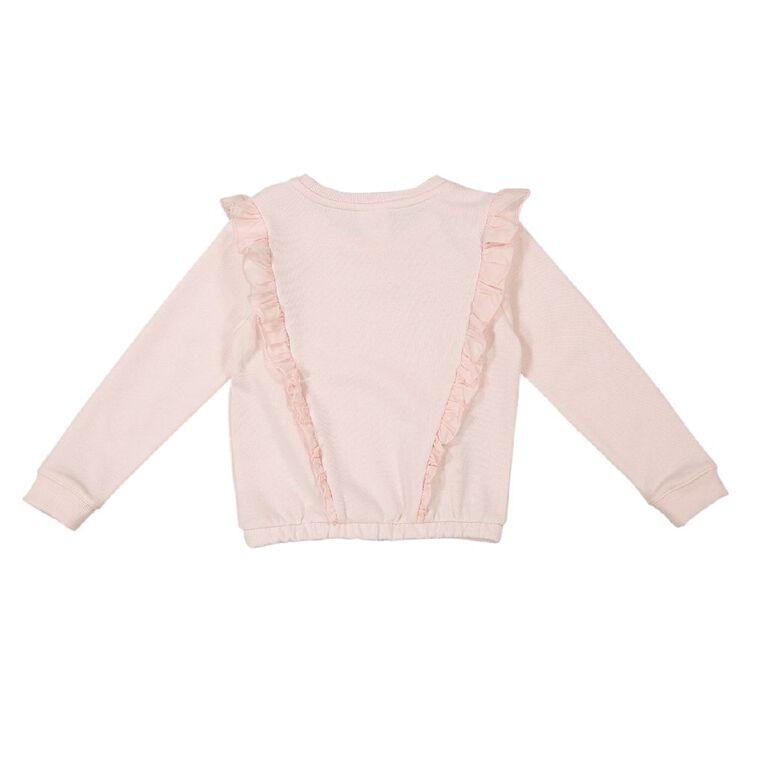 Young Original Frill Front Sweatshirt, Pink Light, hi-res