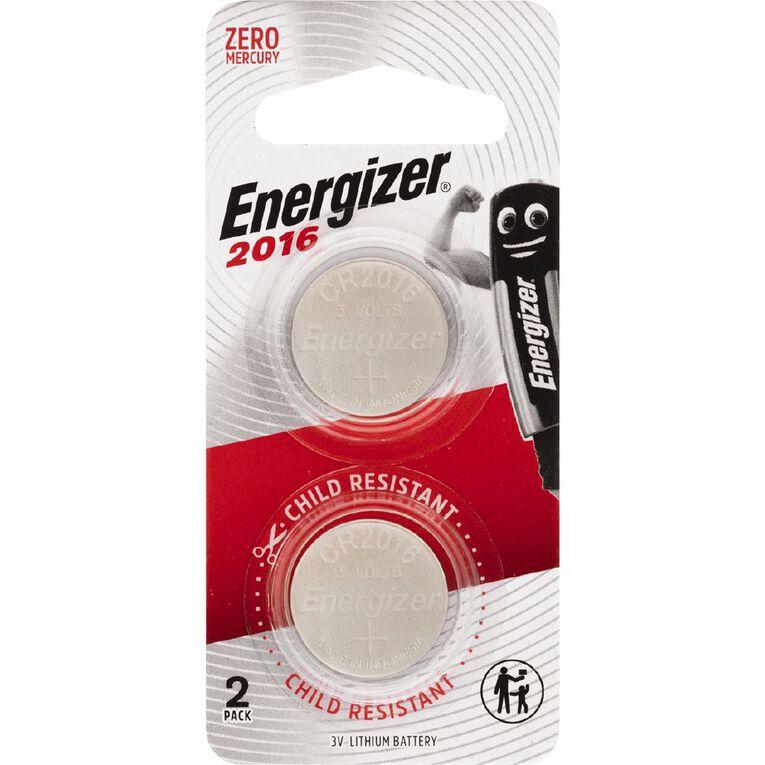 Energizer Lithium Coin ECR2016BP2 2 Pack, , hi-res