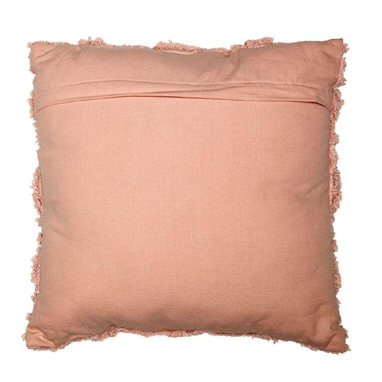 Living & Co Edith Tufted Cushion Peach Whip Pink 45cm x 45cm, Pink, hi-res