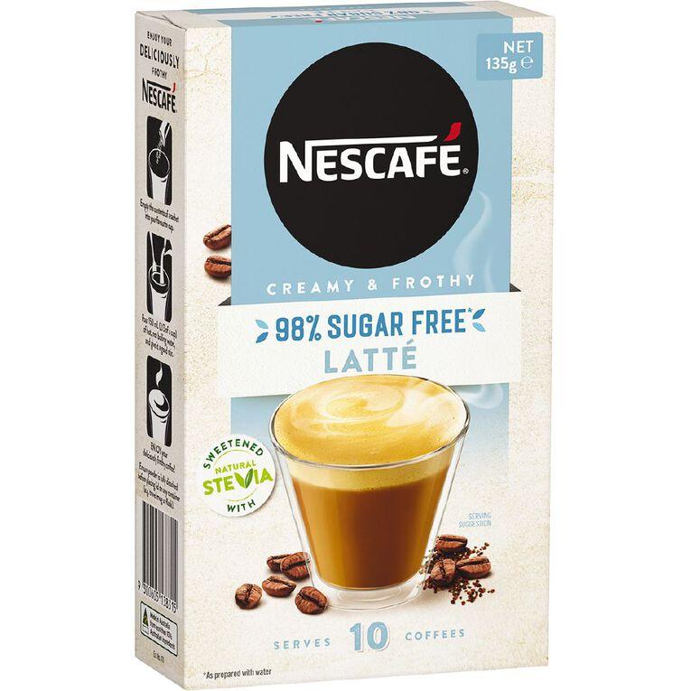 Nescafe 98% Sugar Free Latte 10 Pack, , hi-res