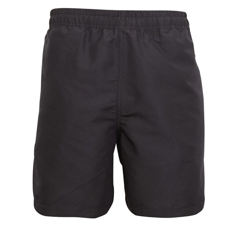 Schooltex Unisex Taslon Shorts, Black, hi-res