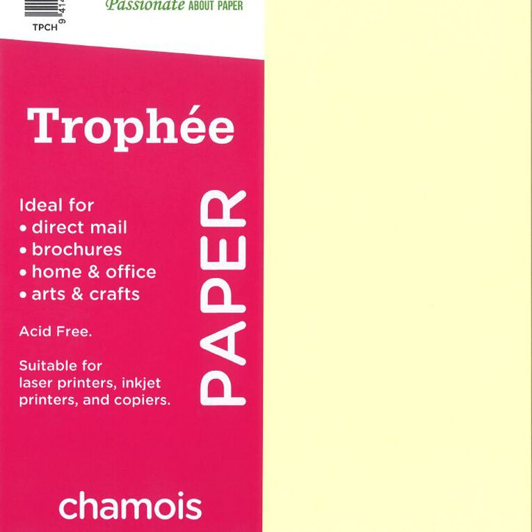 Trophee Paper 80gsm 30 Pack Chamois A4, , hi-res