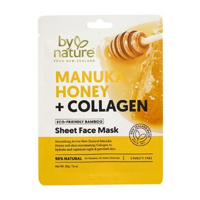 By Nature Manuka Honey and Collagen Sheet Face Mask 25ml