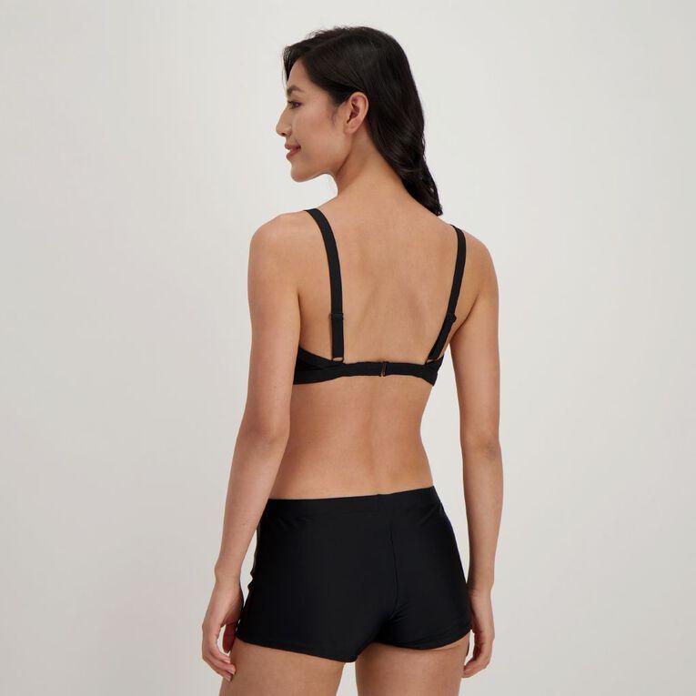 H&H Swim Women's Contemporary Full Cup Bikini Top, Black, hi-res image number null