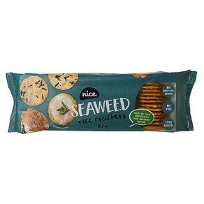 Nice Rice Crackers Seaweed 100g