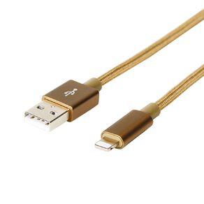 Botanic Geo Lightning Cable Gold 2m