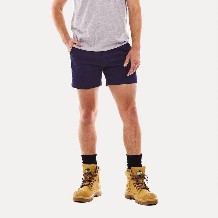 Tradie Flex Contrast Short Length Shorts, Navy, hi-res