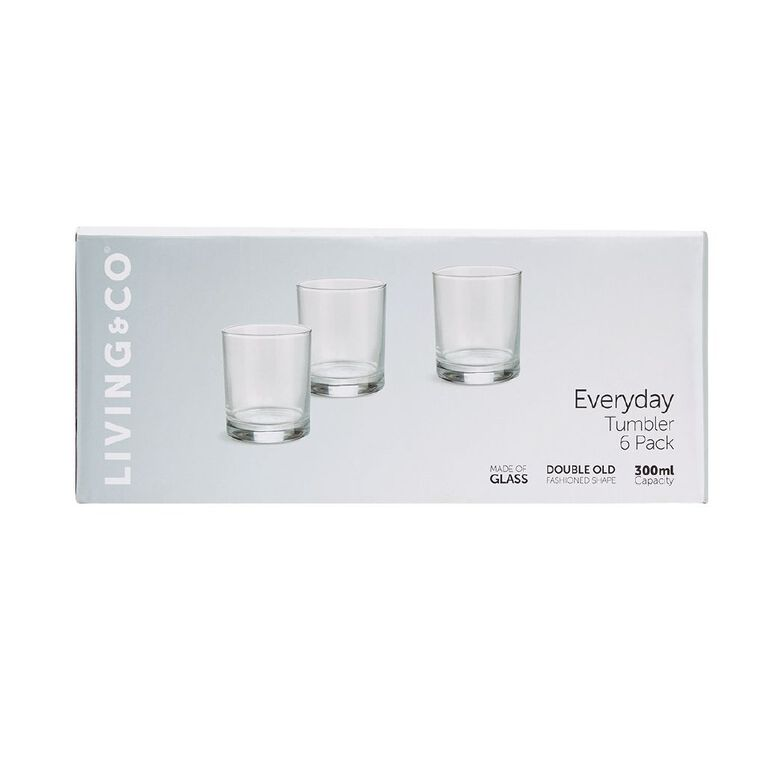Living & Co Everyday Double Old Fashioned Glass 6 Pack, , hi-res
