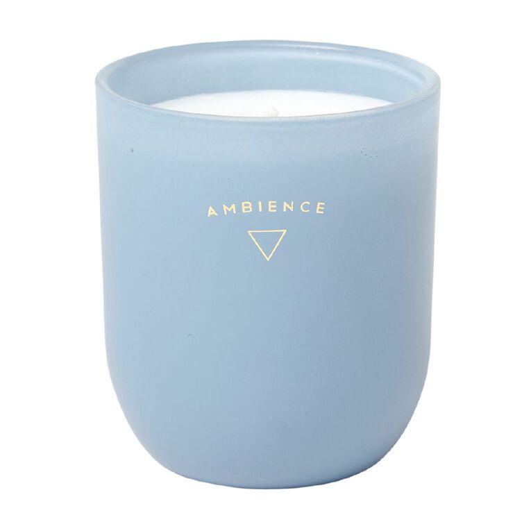 Living & Co Ambience Jar Candle Waiheke Bay Blue 13oz, Blue, hi-res