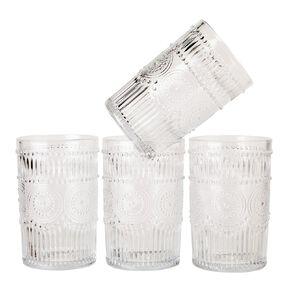 Living & Co Boho Moroccan Hiball Glass 4 Pack