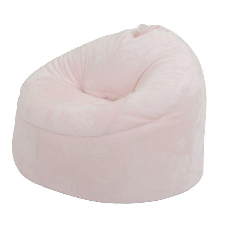 Living & Co Bean Bag Moon Chair Cover Pink Fleece 200L, , hi-res