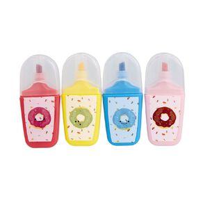 Uniti Bright Highlighter 4 Pack Multi-Coloured