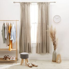 Living & Co Piha Tab Top Voile Pumice Natural