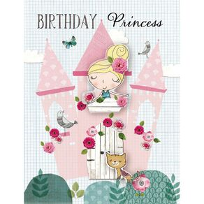 John Sands Kids' Card Birthday Princess