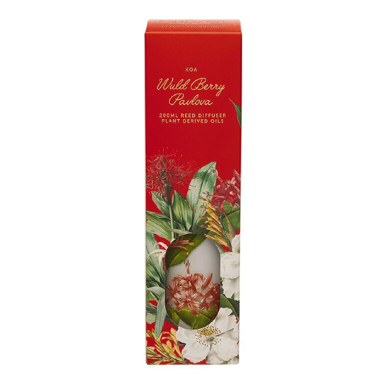 Living & Co Kiwiana Berry Pavlova Diffuser Red 200ml, Red, hi-res