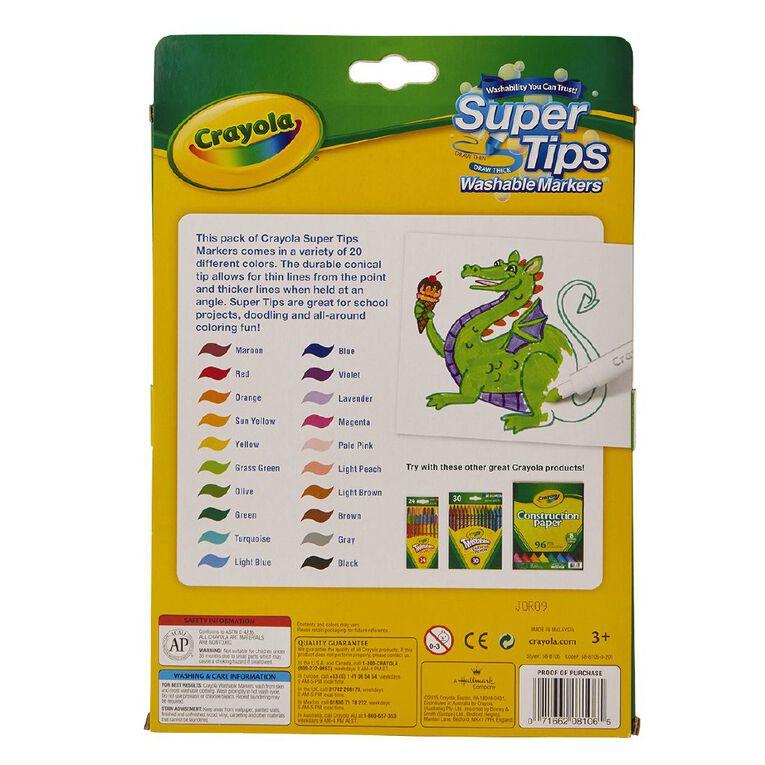 Crayola Super Tip Markers 20 Pack, , hi-res
