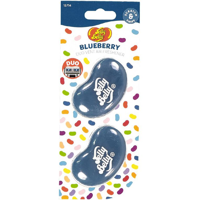Jelly Belly Duo Mini Vent Mount Car Air Freshener Blueberry Scent, , hi-res