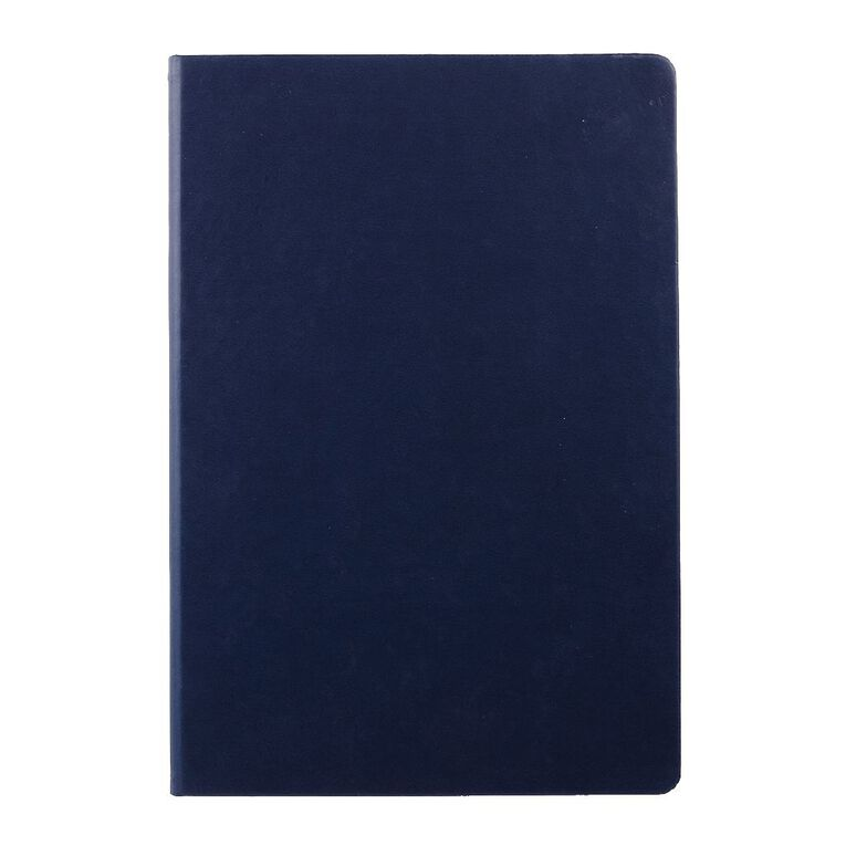 WS Hardcover PU Notebook Navy A4, , hi-res