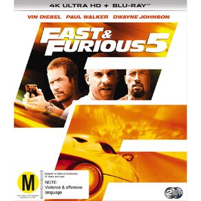 Fast & The Furious 5 4K Blu-ray 2Disc