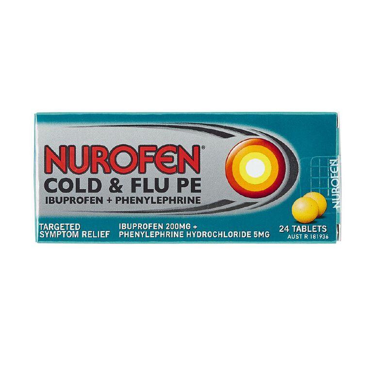 Nurofen Cold & Flu PE tablets 24s, , hi-res