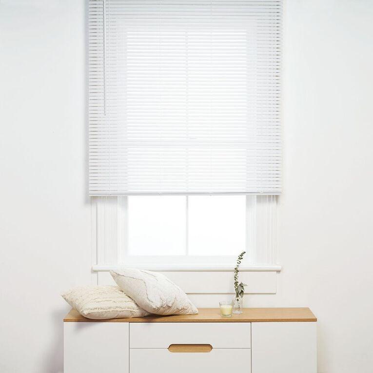 Living & Co PVC Cordless Venetian Blind 25mm White 75cm x 150cm, White, hi-res
