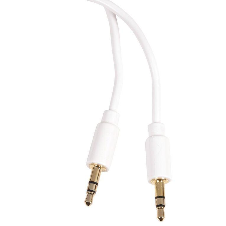 Tech.Inc Aux Cable 3.5mm-3.5mm 1m White, , hi-res