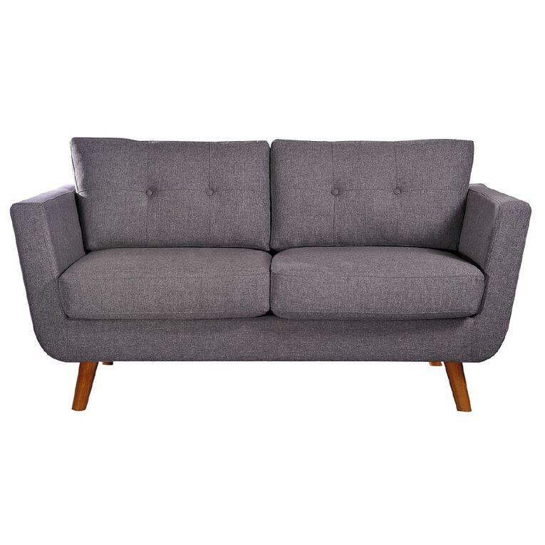 Living & Co Nevada 2 Seater Sofa Charcoal, , hi-res