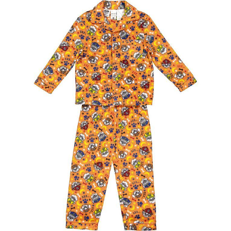 Paw Patrol Boys' Fleece Pyjama, Orange Mid, hi-res