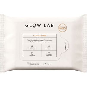 Glow Lab Facial Wipes 20 Pack