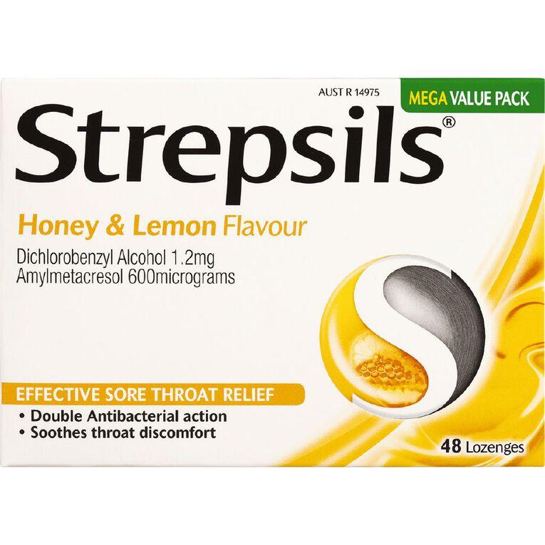 Strepsils Sore Throat Honey and Lemon 48s, , hi-res