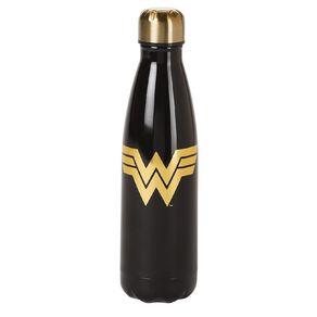 Wonder Woman Stainless Steel Drink Bottle Black 500ml