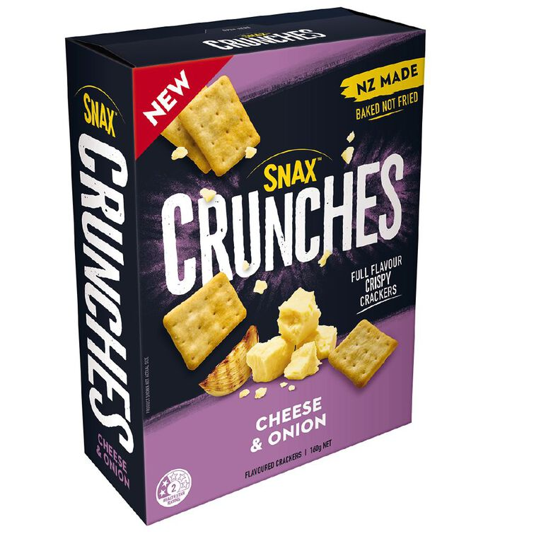 Snax Crunches Cheese & Onion 160g, , hi-res