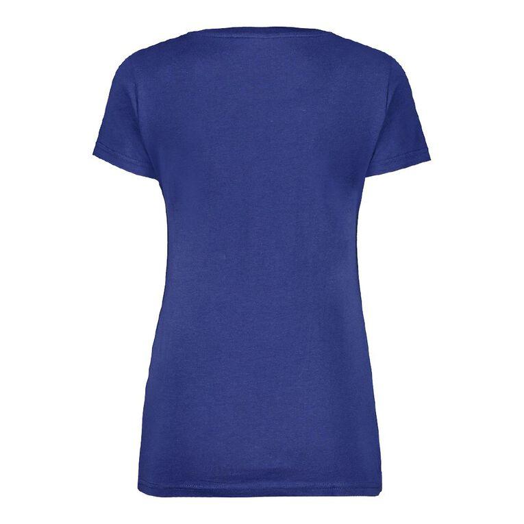 H&H Women's V-Neck Tee, Blue, hi-res