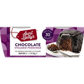 Aunt Betty's Steamy Puds Chocolate 2 Pack