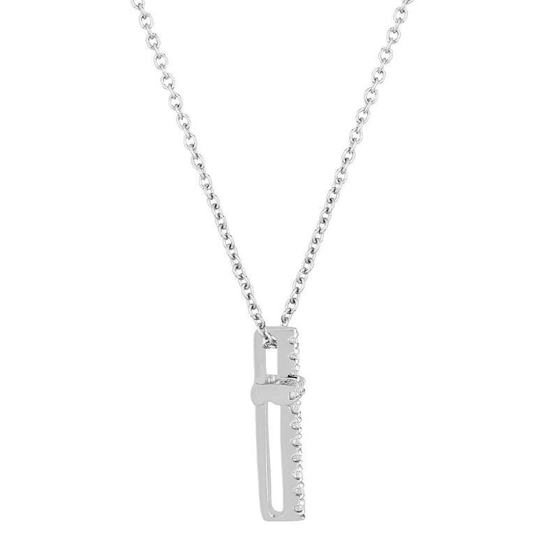 0.05 Carat Diamond 9ct Gold Cross Pendant, , hi-res