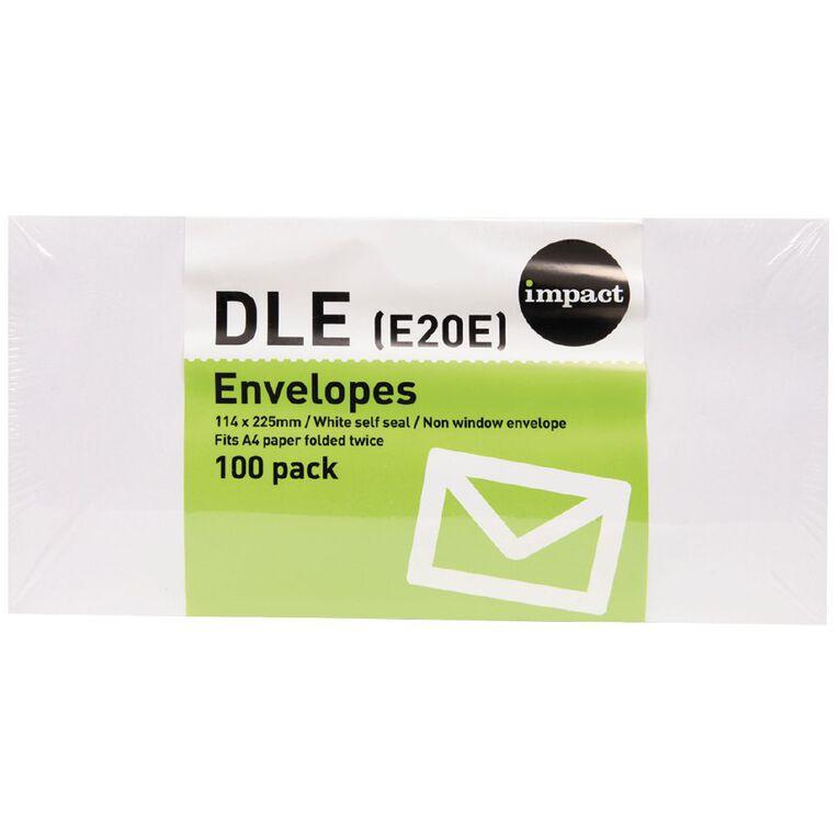 WS Envelope DLE Self Seal 100 Pack, , hi-res