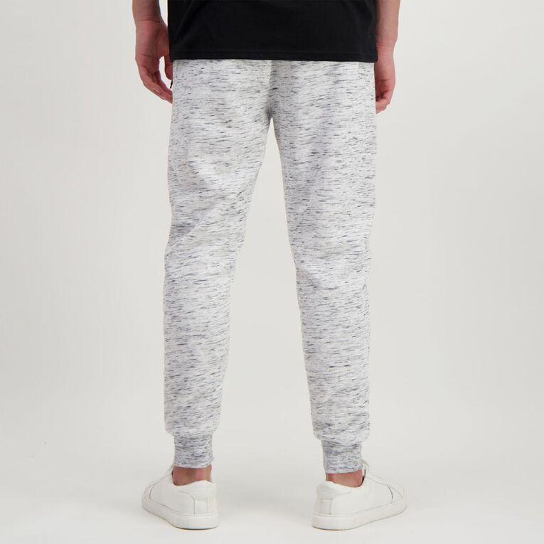 Garage Men's Space Dye Trackpants, White/Black SPACEDYE, hi-res