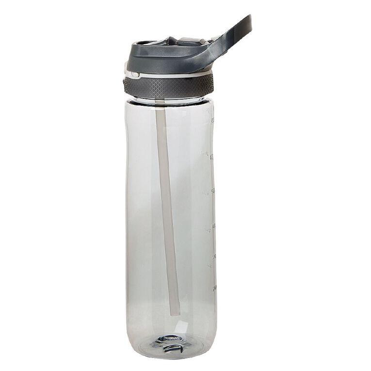 Living & Co Flip Top Sipper Bottle Charcoal 750ml, , hi-res